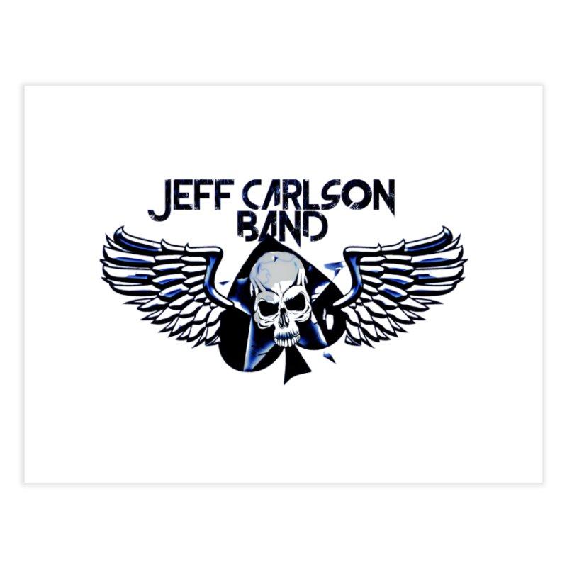 JCB New Blue Logo Home Fine Art Print by JeffCarlsonBand's Artist Shop