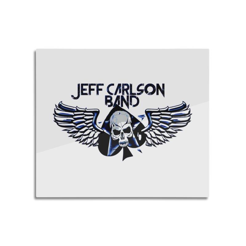 JCB New Blue Logo Home Mounted Aluminum Print by JeffCarlsonBand's Artist Shop