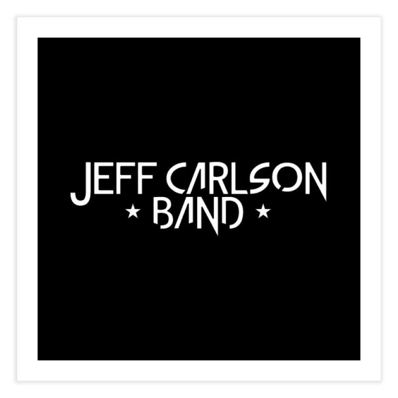 JCB White Logo Home Fine Art Print by JeffCarlsonBand's Artist Shop
