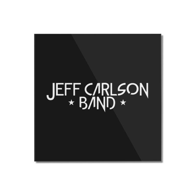 JCB White Logo Home Mounted Acrylic Print by JeffCarlsonBand's Artist Shop