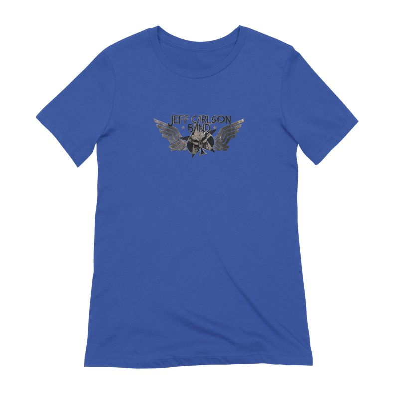 Jeff Carlson Band Wings logo Women's Extra Soft T-Shirt by JeffCarlsonBand's Artist Shop