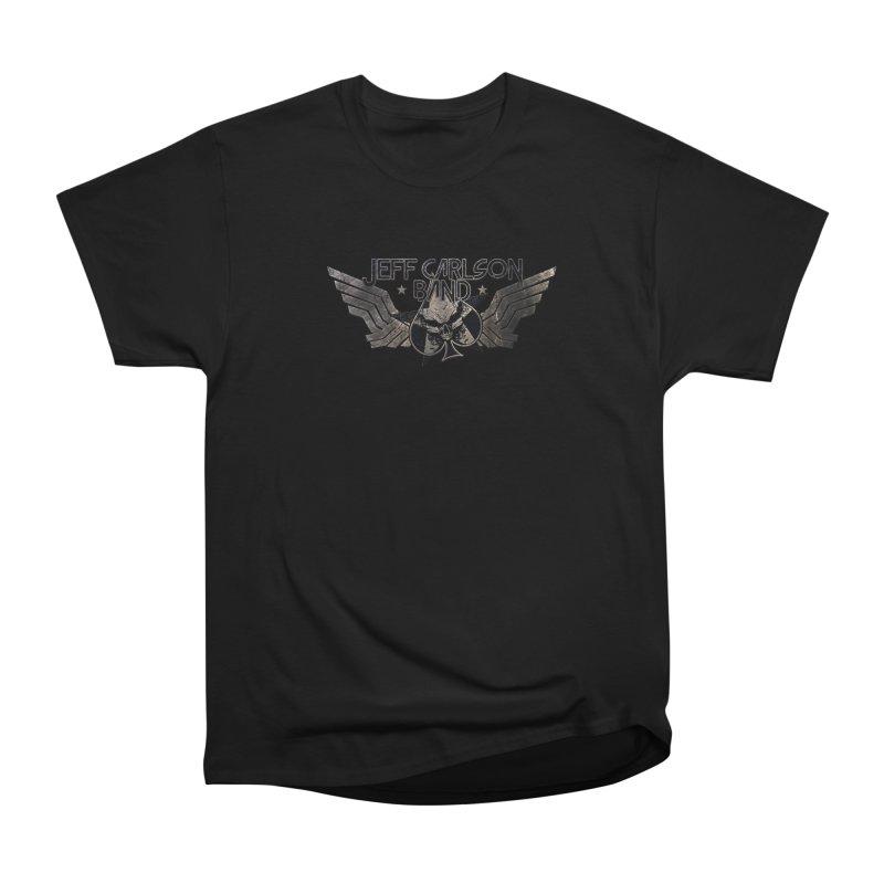 Jeff Carlson Band Wings logo Men's Heavyweight T-Shirt by JeffCarlsonBand's Artist Shop