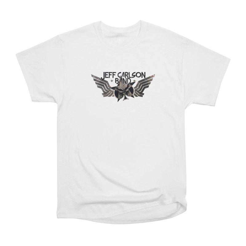 Jeff Carlson Band Wings logo Women's Heavyweight Unisex T-Shirt by JeffCarlsonBand's Artist Shop