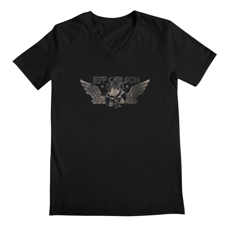 Jeff Carlson Band Wings logo Men's Regular V-Neck by JeffCarlsonBand's Artist Shop