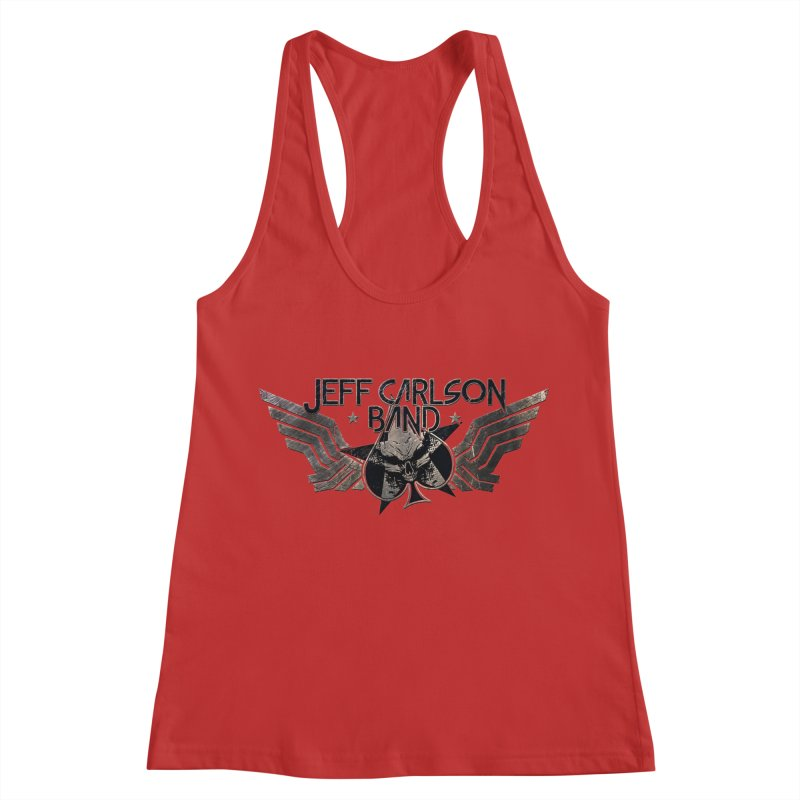 Jeff Carlson Band Wings logo Women's Racerback Tank by JeffCarlsonBand's Artist Shop
