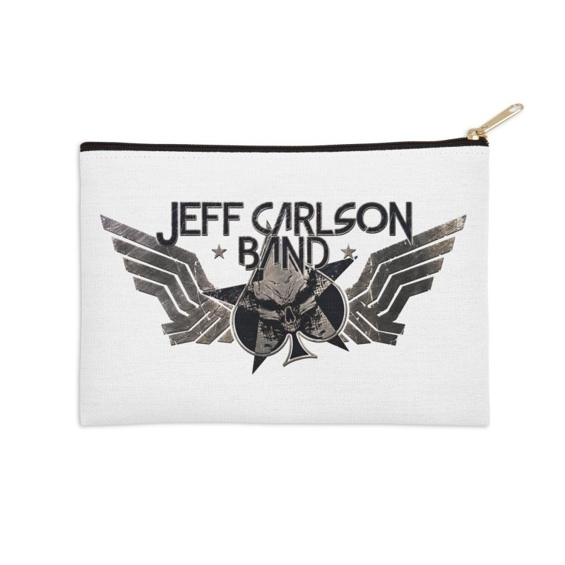 Jeff Carlson Band Wings logo Accessories Zip Pouch by JeffCarlsonBand's Artist Shop