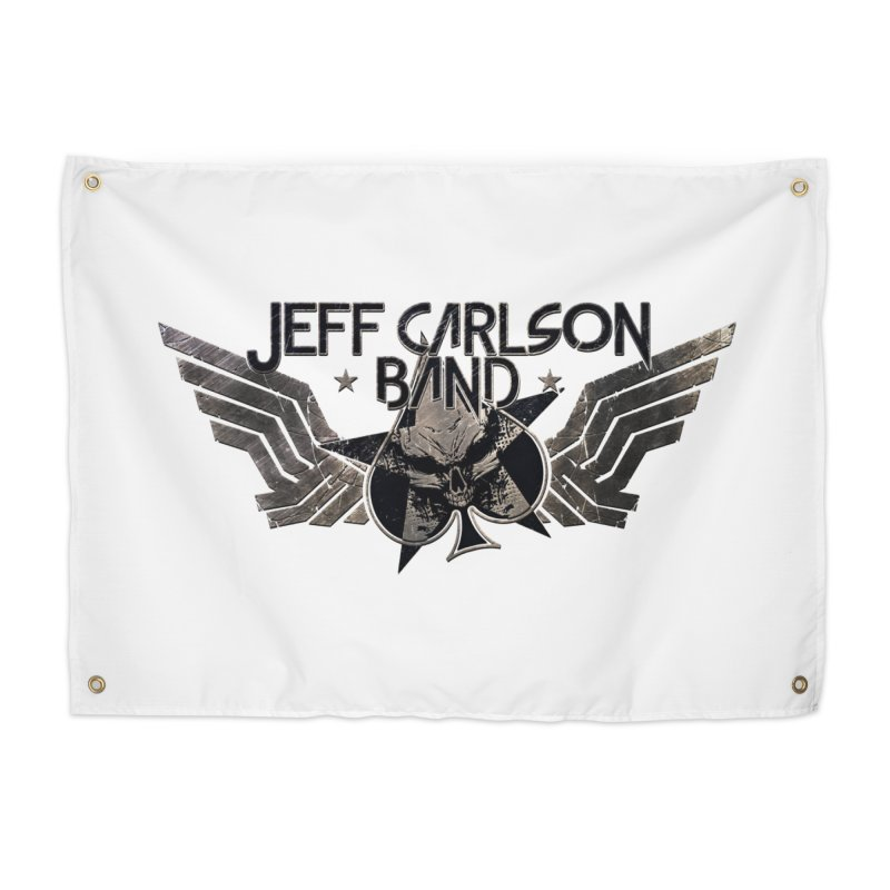 Jeff Carlson Band Wings logo Home Tapestry by JeffCarlsonBand's Artist Shop