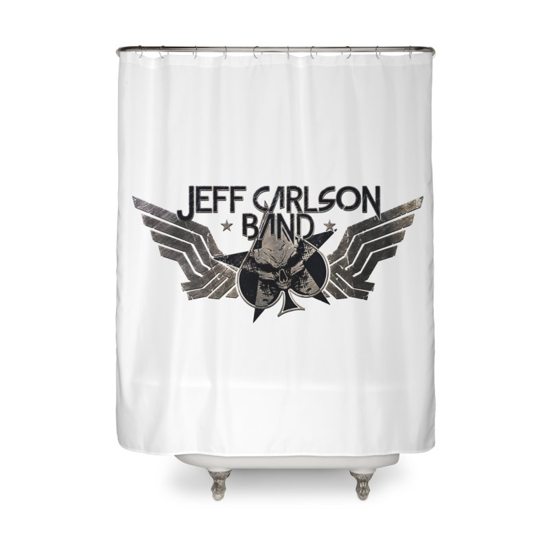 Jeff Carlson Band Wings logo Home Shower Curtain by JeffCarlsonBand's Artist Shop