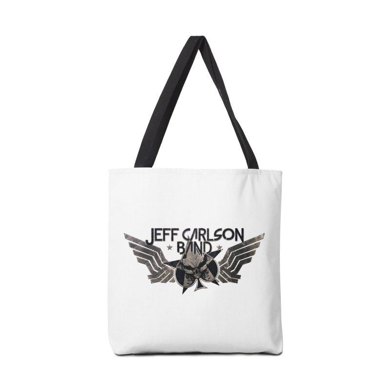 Jeff Carlson Band Wings logo Accessories Tote Bag Bag by JeffCarlsonBand's Artist Shop