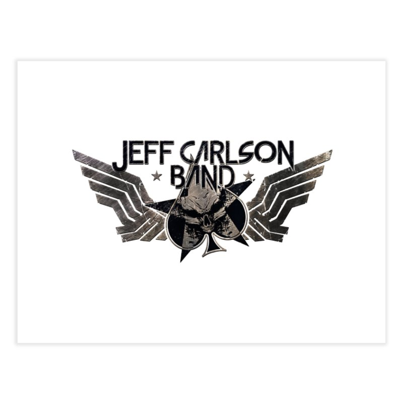 Jeff Carlson Band Wings logo Home Fine Art Print by JeffCarlsonBand's Artist Shop