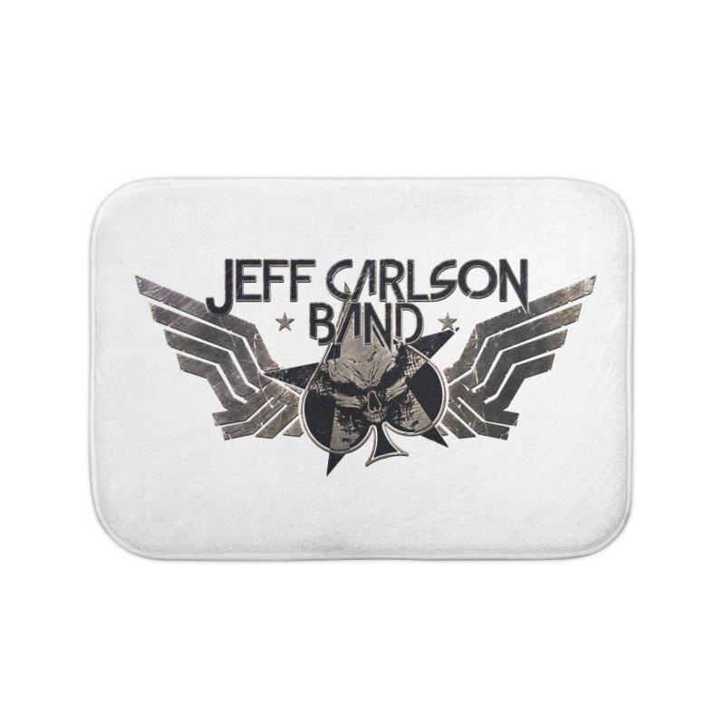 Jeff Carlson Band Wings logo Home Bath Mat by JeffCarlsonBand's Artist Shop