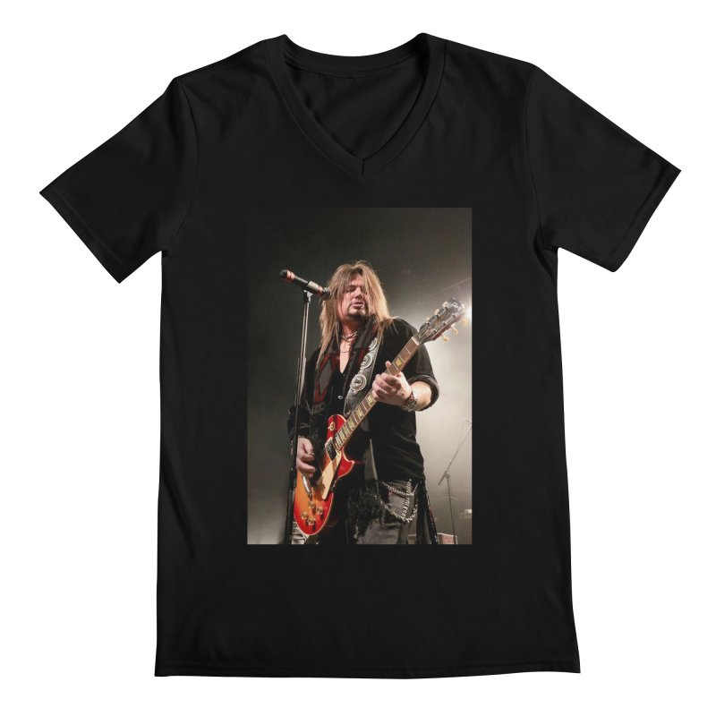 Jeff Live! Men's Regular V-Neck by JeffCarlsonBand's Artist Shop