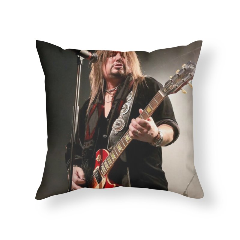 Jeff Live! Home Throw Pillow by JeffCarlsonBand's Artist Shop