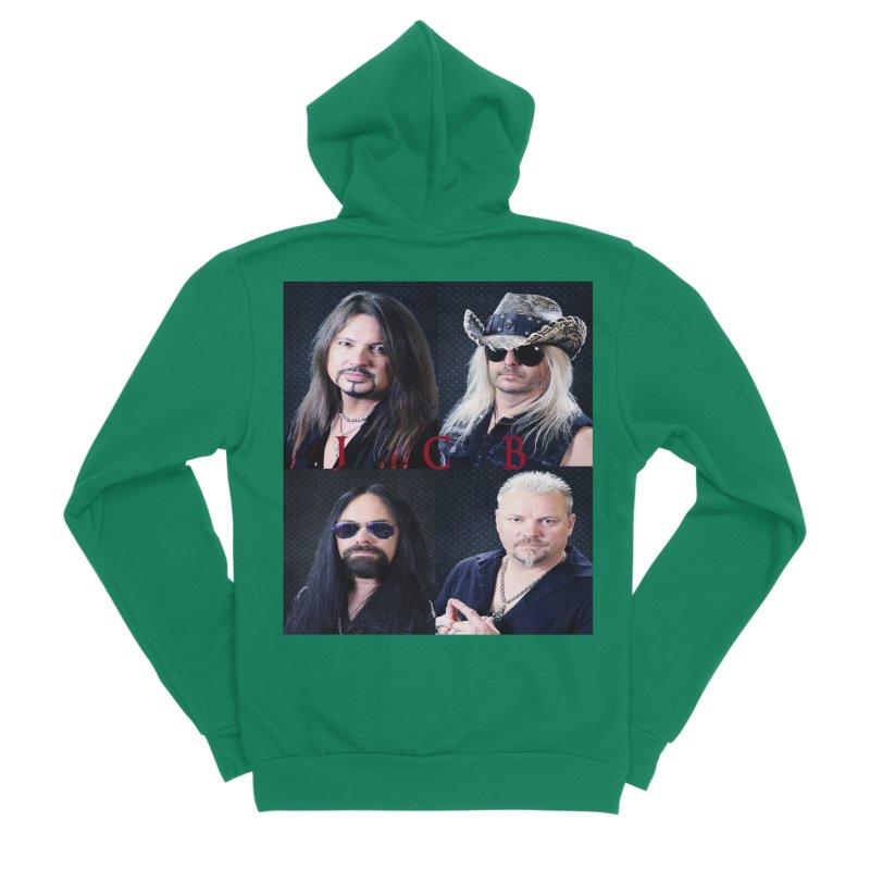 JCB Collage Women's Sponge Fleece Zip-Up Hoody by JeffCarlsonBand's Artist Shop