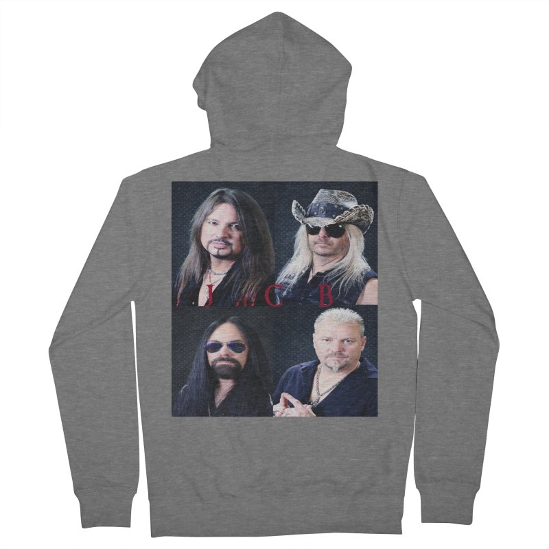 JCB Collage Women's French Terry Zip-Up Hoody by JeffCarlsonBand's Artist Shop
