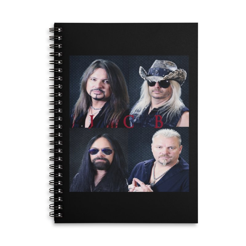 JCB Collage Accessories Lined Spiral Notebook by JeffCarlsonBand's Artist Shop