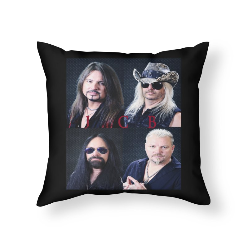 JCB Collage Home Throw Pillow by JeffCarlsonBand's Artist Shop