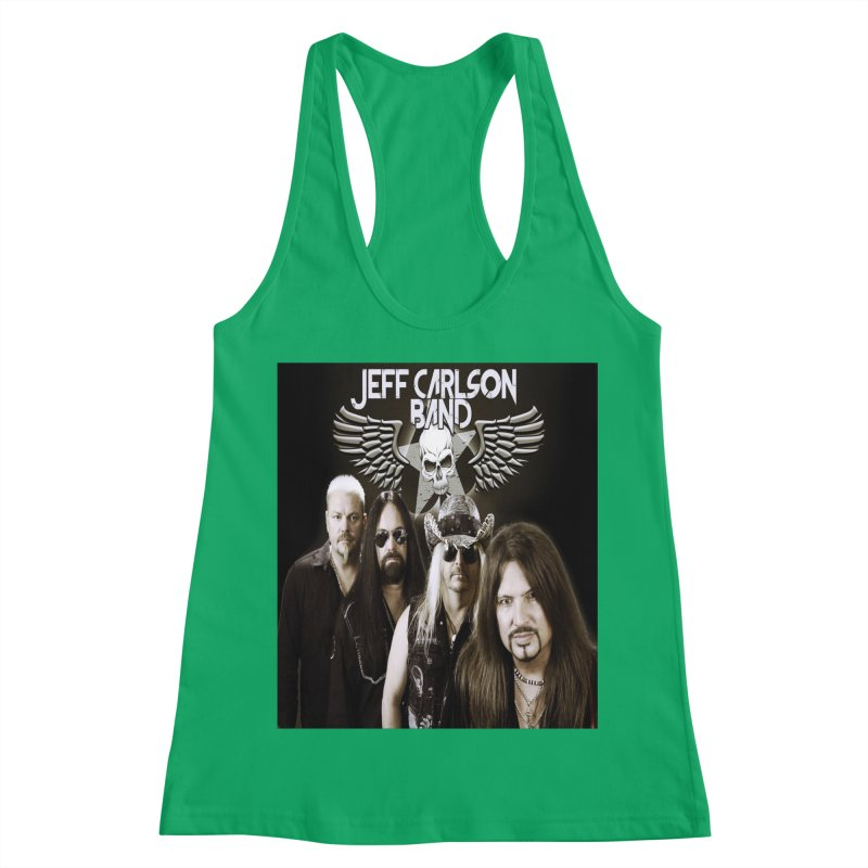 New JCB Band/Wings Women's Racerback Tank by JeffCarlsonBand's Artist Shop