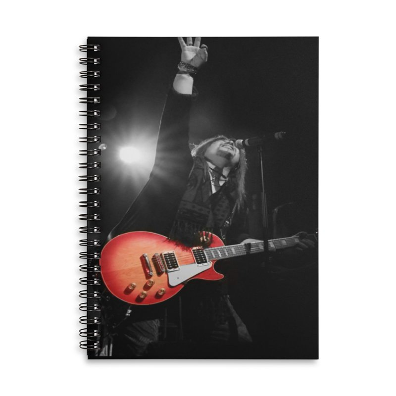 Jeff Carlson Live shot Accessories Lined Spiral Notebook by JeffCarlsonBand's Artist Shop