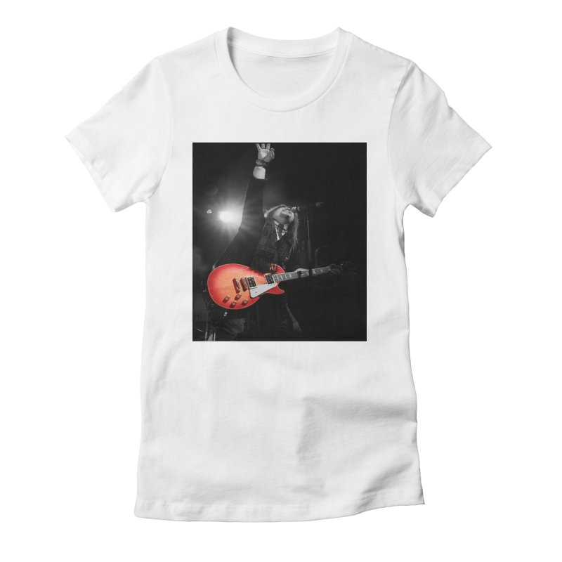 Jeff Carlson Live shot Women's Fitted T-Shirt by JeffCarlsonBand's Artist Shop