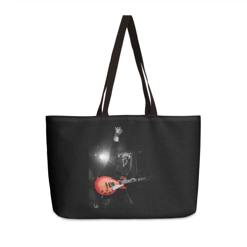 Jeff Carlson Live shot Accessories Weekender Bag Bag by JeffCarlsonBand's Artist Shop