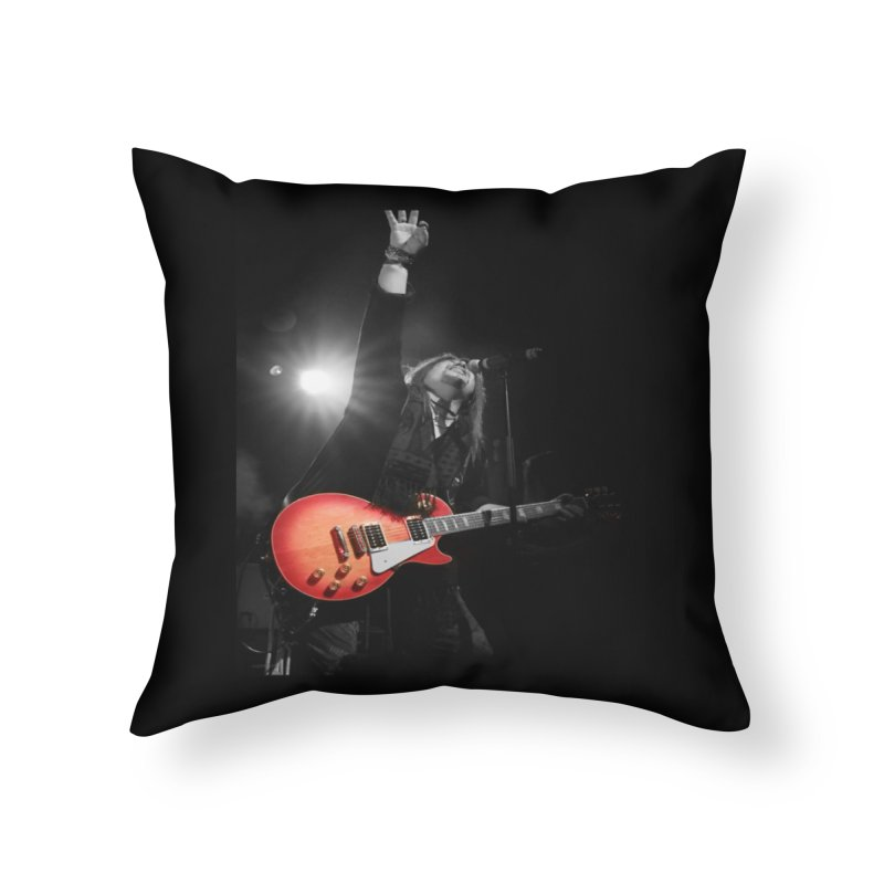 Jeff Carlson Live shot Home Throw Pillow by JeffCarlsonBand's Artist Shop