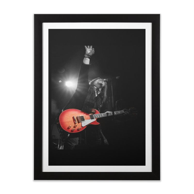 Jeff Carlson Live shot Home Framed Fine Art Print by JeffCarlsonBand's Artist Shop