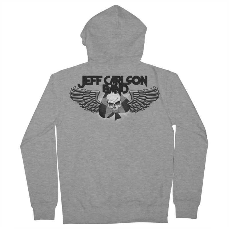 JCB new transparent wings logo! Men's French Terry Zip-Up Hoody by JeffCarlsonBand's Artist Shop