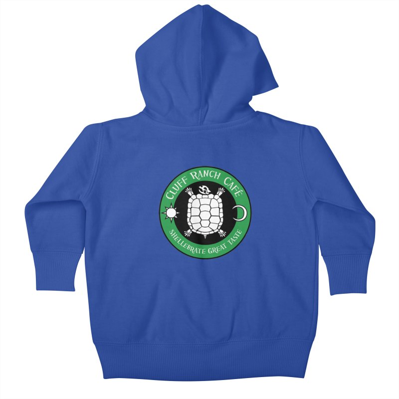Cluff Ranch Cafe Kids Baby Zip-Up Hoody by