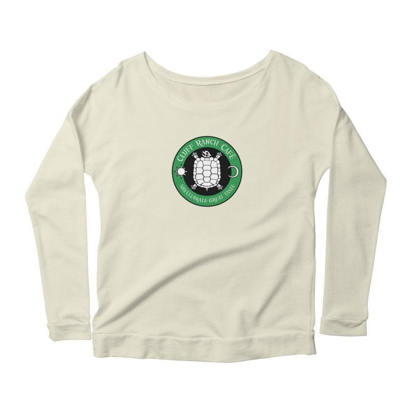 Cluff Ranch Cafe Women's Longsleeve Scoopneck  by