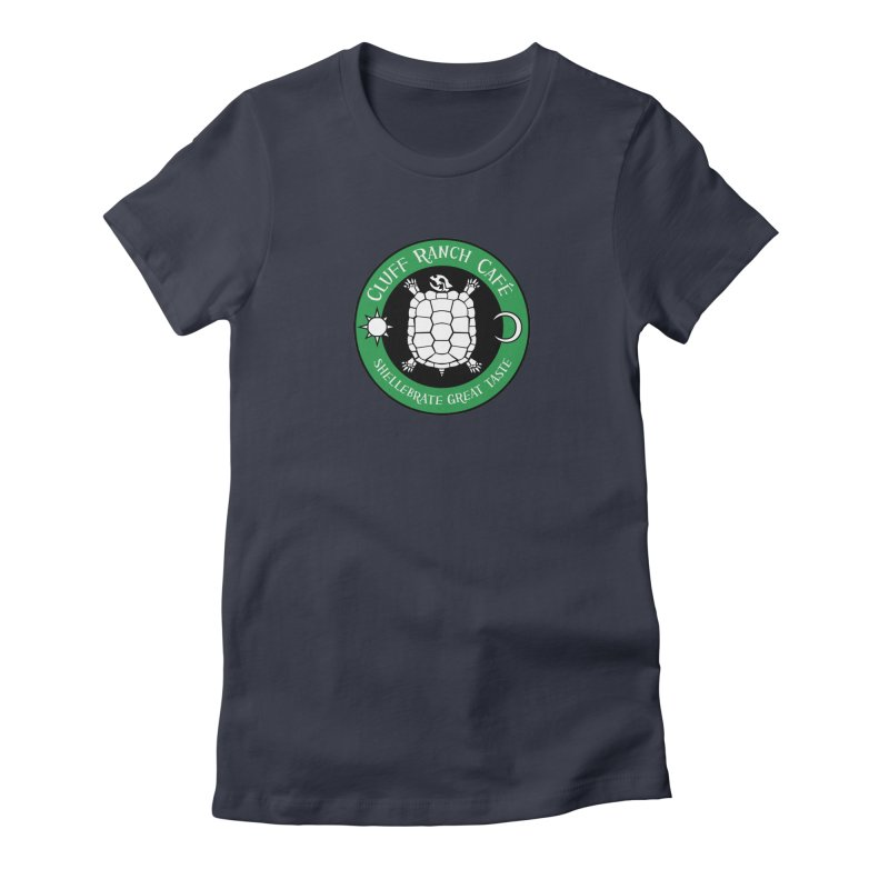 Cluff Ranch Cafe Women's Fitted T-Shirt by