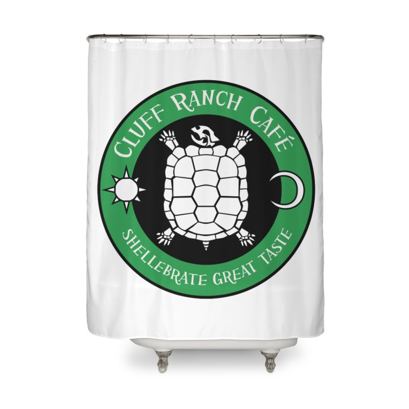 Cluff Ranch Cafe Home Shower Curtain by