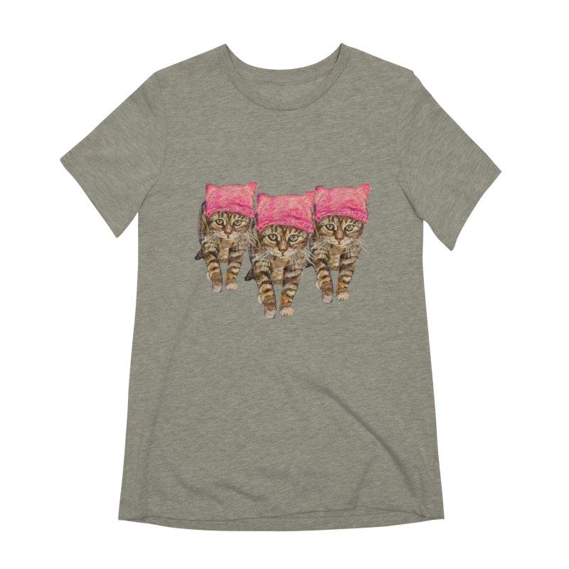 Femme Chats Women's Extra Soft T-Shirt by Jennybelin's Artist Shop