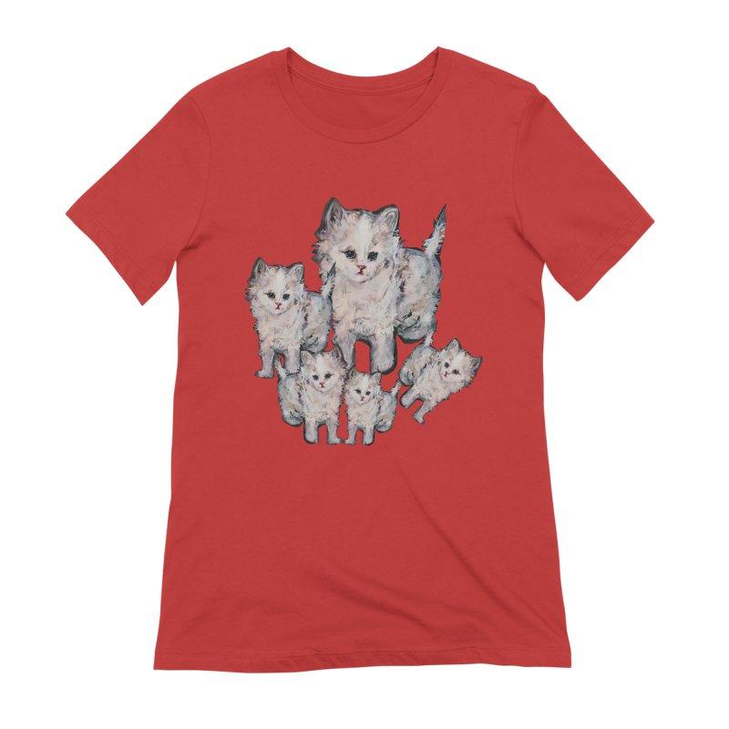 Kitty Kat Karma Women's Extra Soft T-Shirt by Jennybelin's Artist Shop