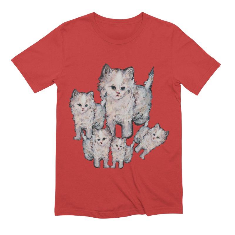 Kitty Kat Karma Men's Extra Soft T-Shirt by Jennybelin's Artist Shop