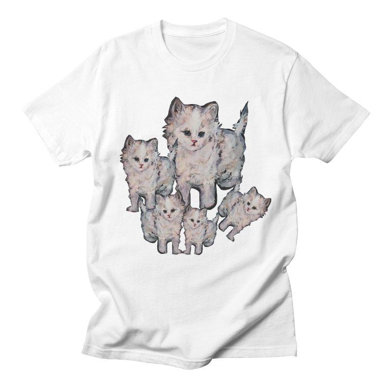 Kitty Kat Karma Men's Regular T-Shirt by Jennybelin's Artist Shop