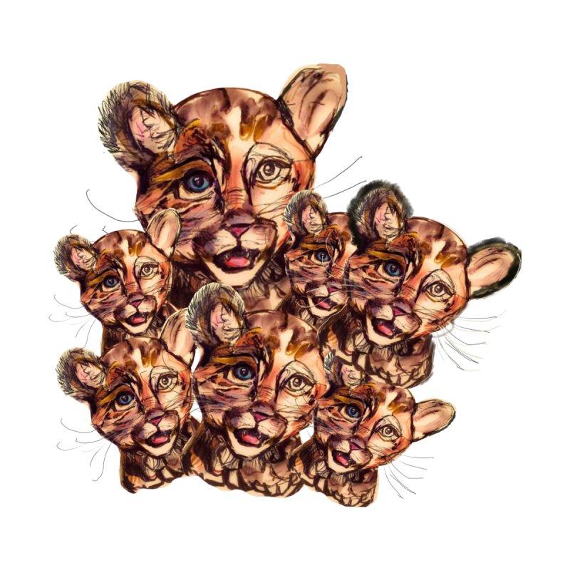 Wild Catz Men's T-Shirt by Jennybelin's Artist Shop