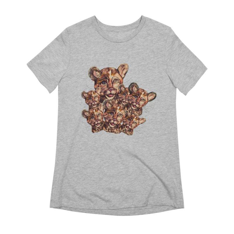 Wild Catz Women's Extra Soft T-Shirt by Jennybelin's Artist Shop