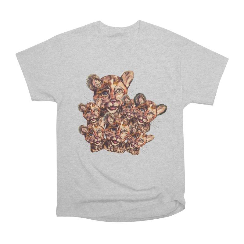 Wild Catz Men's Heavyweight T-Shirt by Jennybelin's Artist Shop