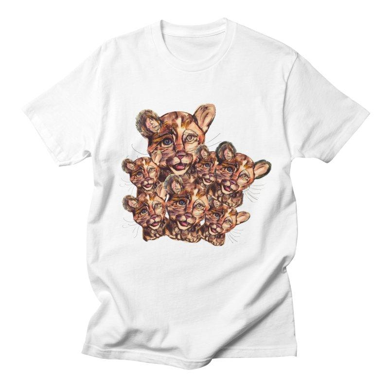 Wild Catz Men's Regular T-Shirt by Jennybelin's Artist Shop