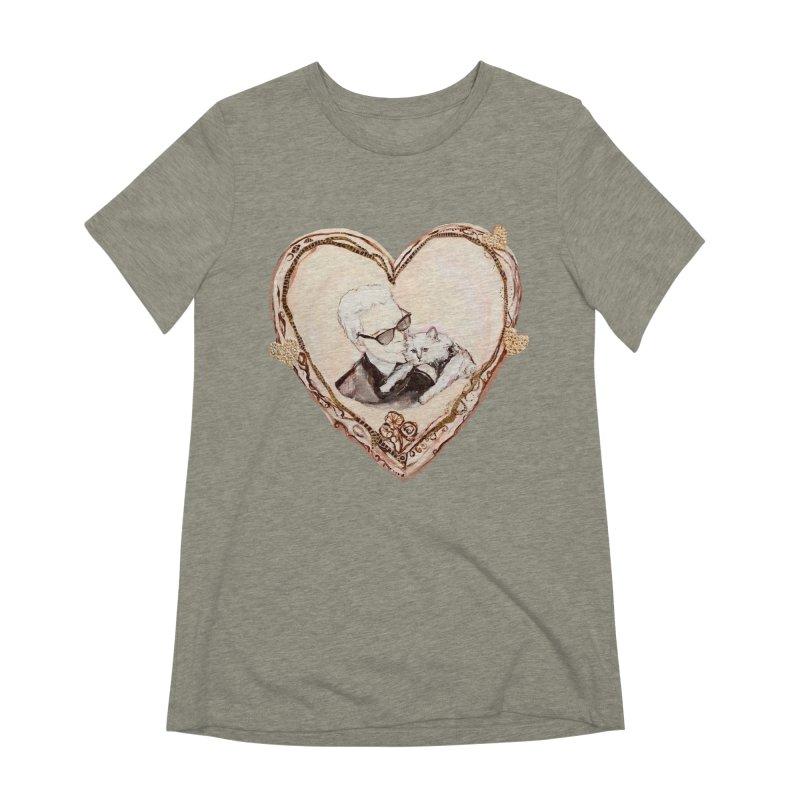 Karl's Valentine Women's Extra Soft T-Shirt by Jennybelin's Artist Shop