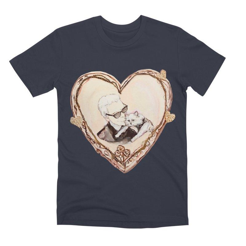 Karl's Valentine Men's Premium T-Shirt by Jennybelin's Artist Shop