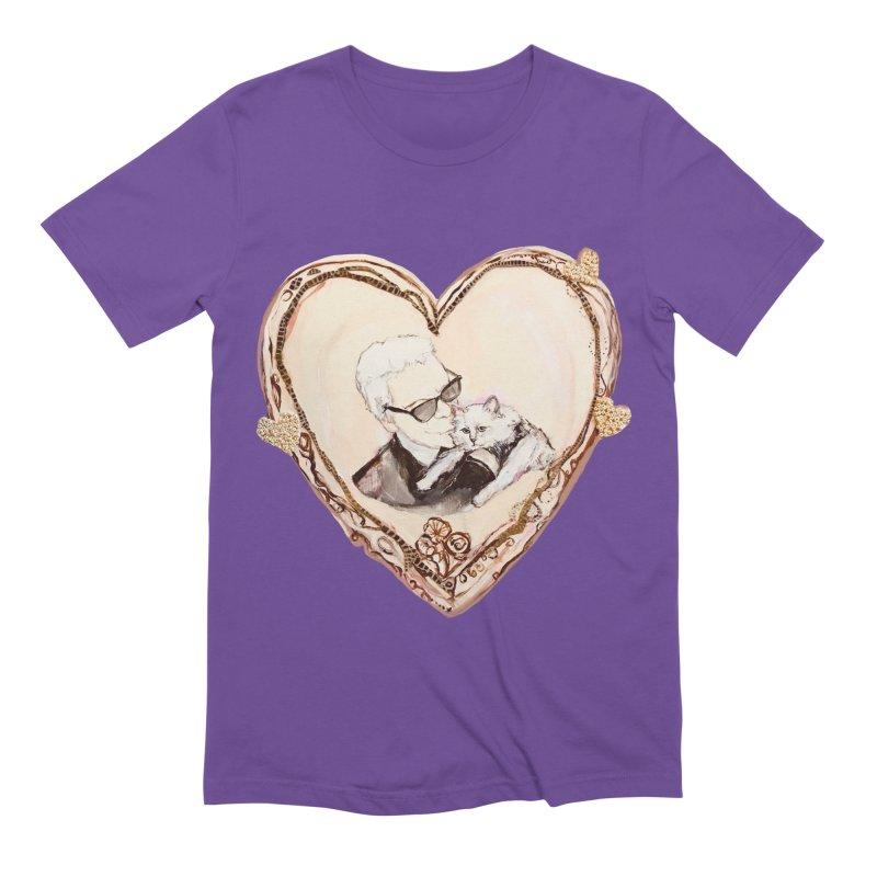 Karl's Valentine Men's Extra Soft T-Shirt by Jennybelin's Artist Shop