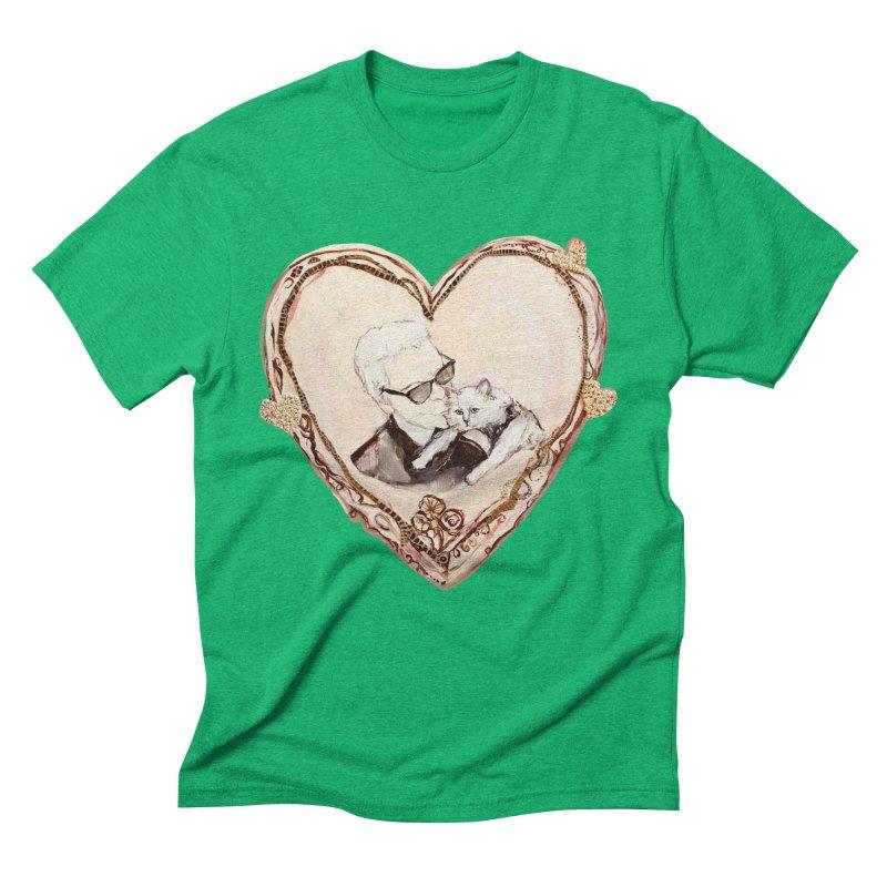 Karl's Valentine Men's Triblend T-Shirt by Jennybelin's Artist Shop