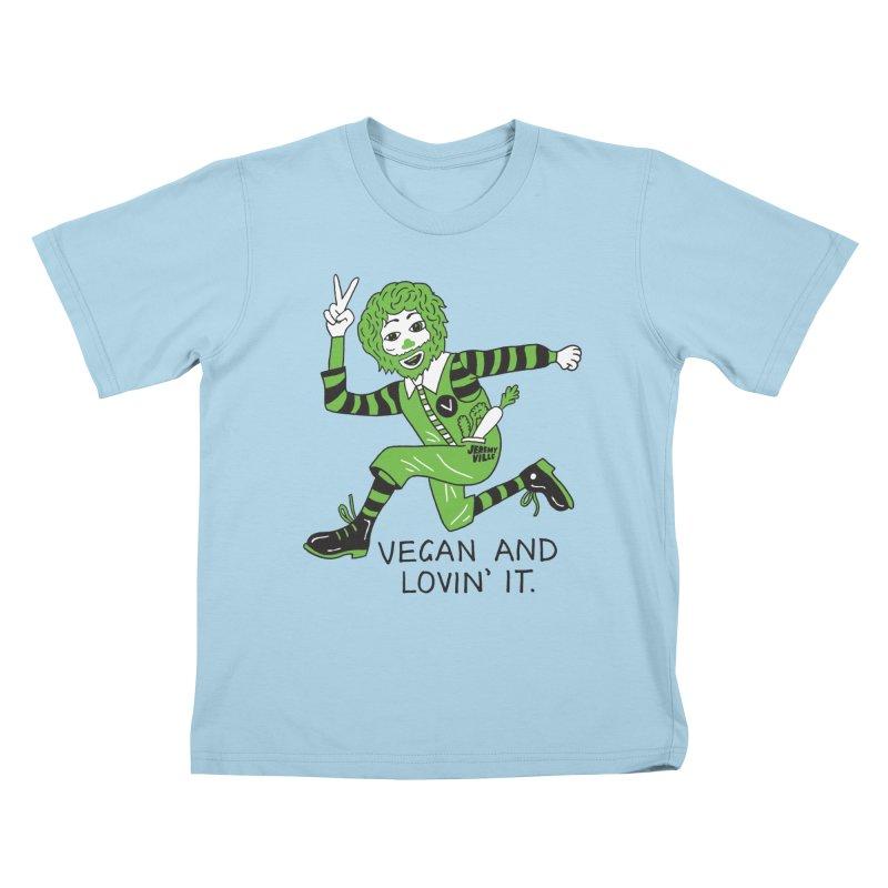 Vegan and Lovin' It Kids T-shirt by Jeremyville's Artist Shop
