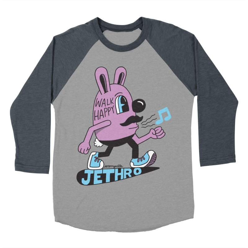 Jethro Says Walk Happy Women's Baseball Triblend T-Shirt by Jeremyville's Artist Shop
