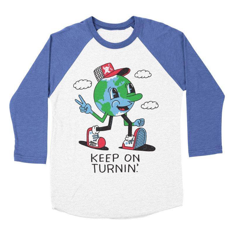 Keep On Turning Men's Baseball Triblend Longsleeve T-Shirt by Jeremyville's Artist Shop