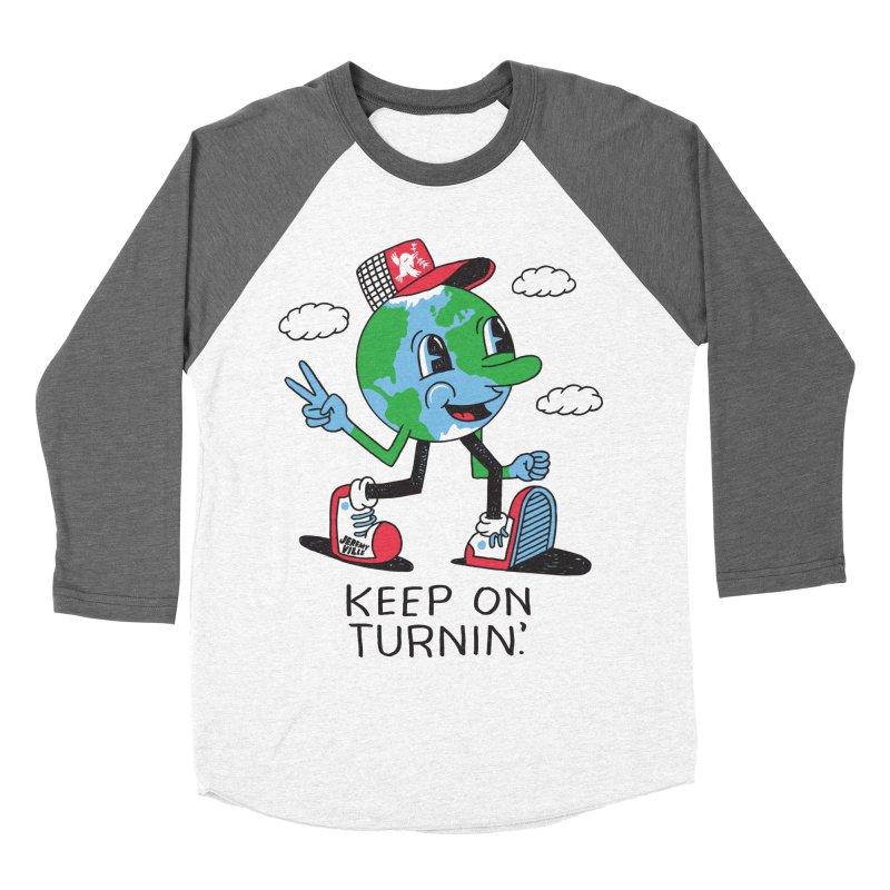 Keep On Turning Men's Baseball Triblend T-Shirt by Jeremyville's Artist Shop