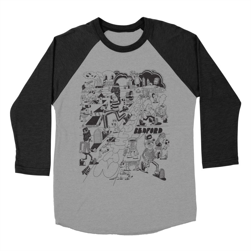 Metropolitan Ave Men's Baseball Triblend T-Shirt by Jeremyville's Artist Shop