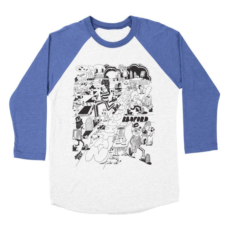 Metropolitan Ave Men's Baseball Triblend Longsleeve T-Shirt by Jeremyville's Artist Shop